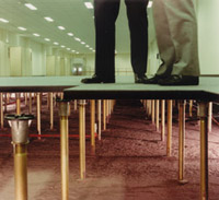 raised floor feet